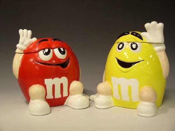 217: 2) M & M  Cookie Jars