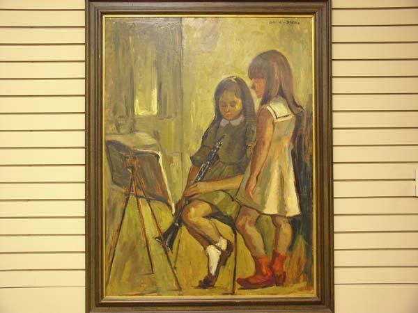 542: Large Oil Painting Dulce Beatriz Signed
