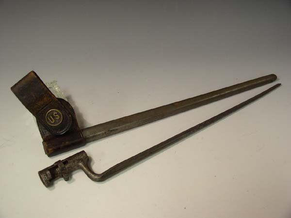 607: Post Civil War Springfield Rifle Bayonette w/ Scab