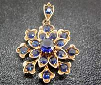 803: Vintage Victorian Genuine Sapphire Pin/Pendant NR