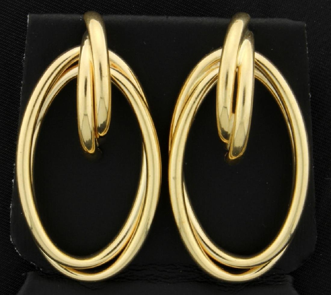 14K Gold Large Hoop Earrings