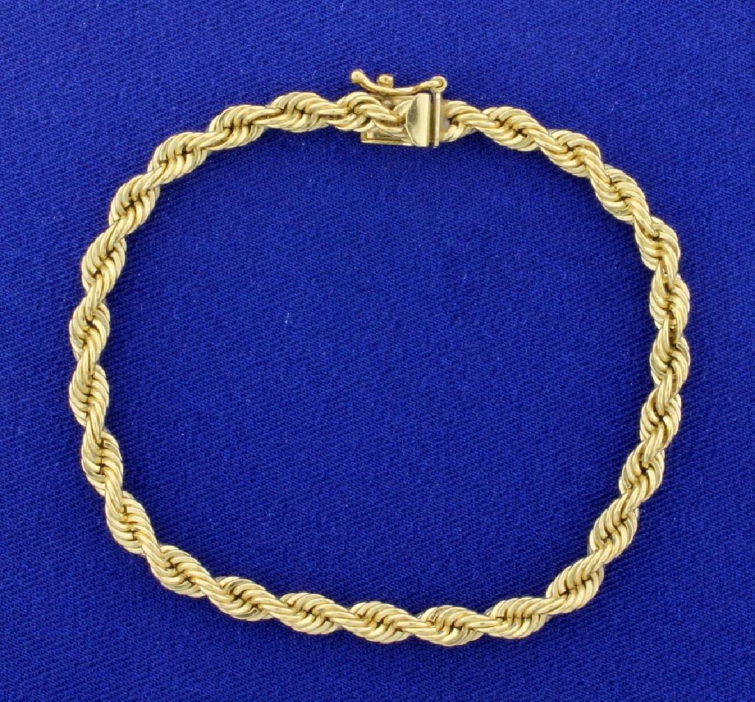 7 1/2 Inch Rope Style Bracelet