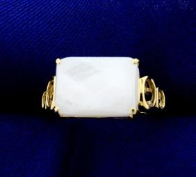 6ct White Chalcedony Ring