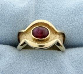 Cabochon Ruby Ring