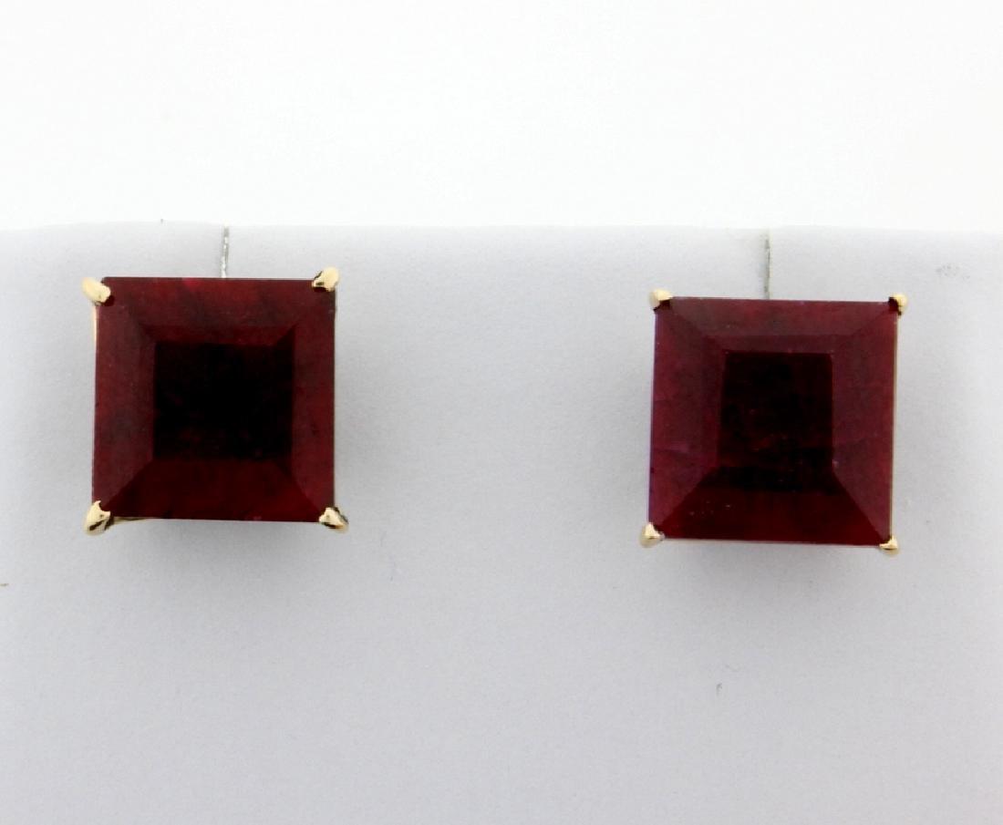 7 ct TW Natural Ruby Stud Earrings
