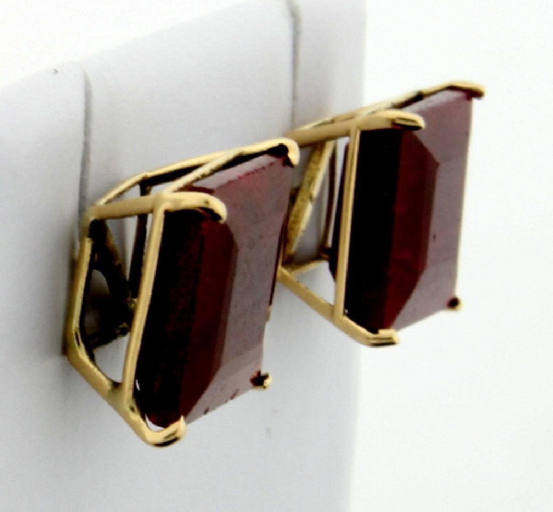 7 ct TW Natural Ruby Stud Earrings - 2