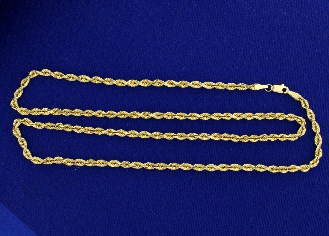 20 1/4 Inch Rope Chain