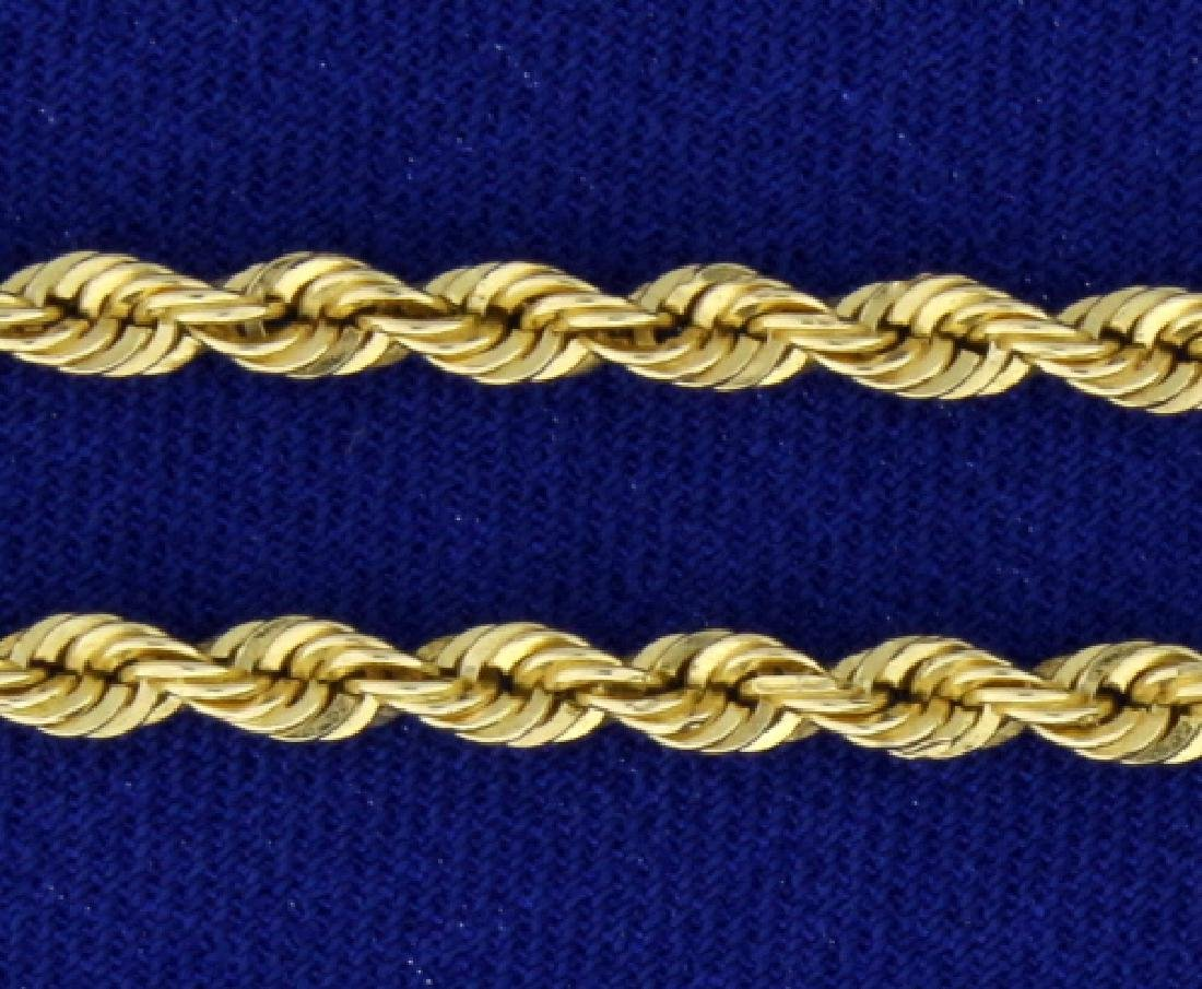 20 1/4 Inch Rope Chain - 2