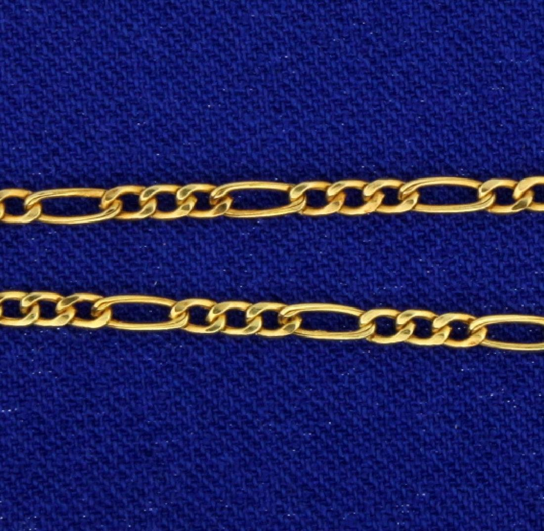 Figaro Chain- Italian made 24 Inch - 2
