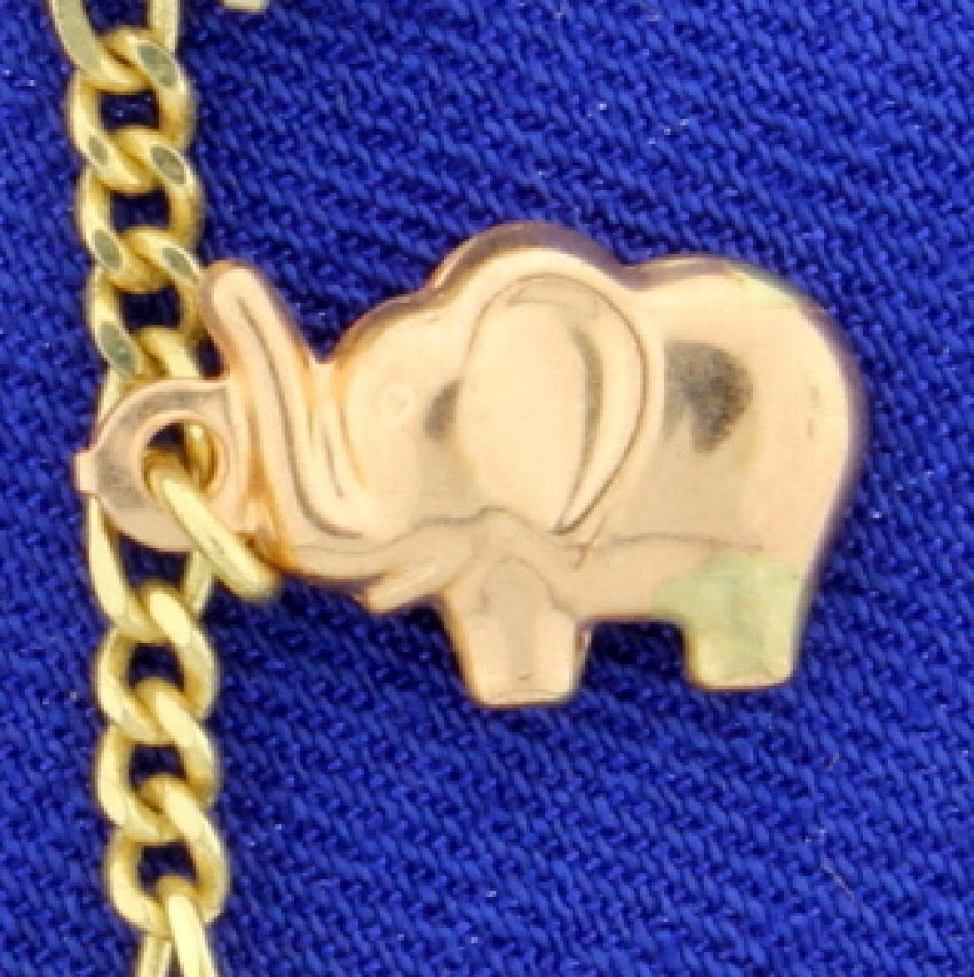 7 1/4 Inch Elephant Bracelet - 2