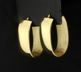 Large 18K Hoop Earrings