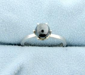 Silver Pearl Ring in 10k Gold