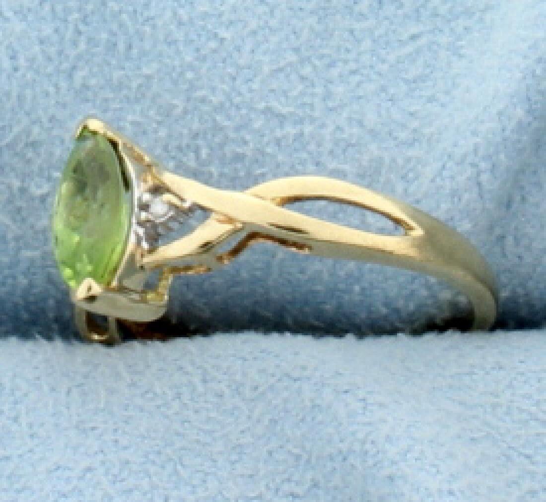 Peridot & Diamond Ring - 2