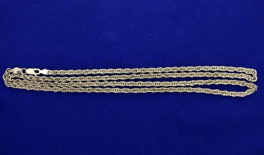 Italian Made 30 Inch Sterling Silver Neck Chain