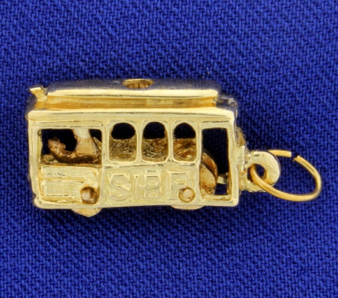 Trolley Cable Car Charm