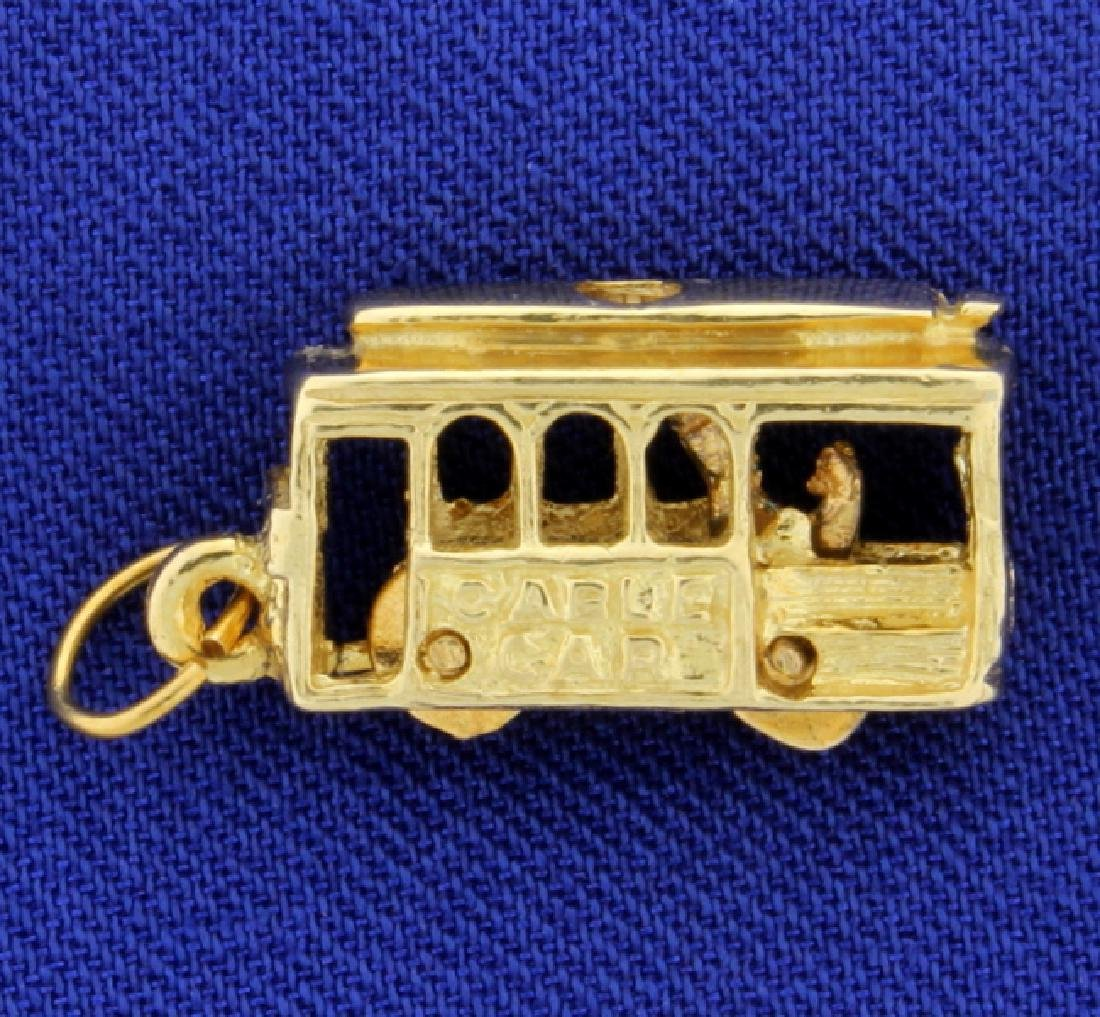 Trolley Cable Car Charm - 2