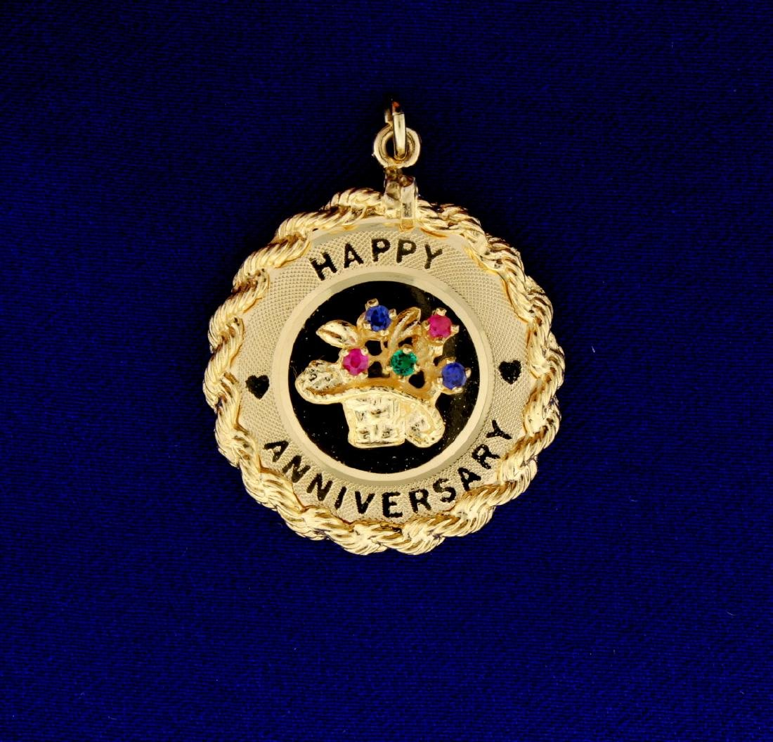 Happy Anniversary Charm or Pendant