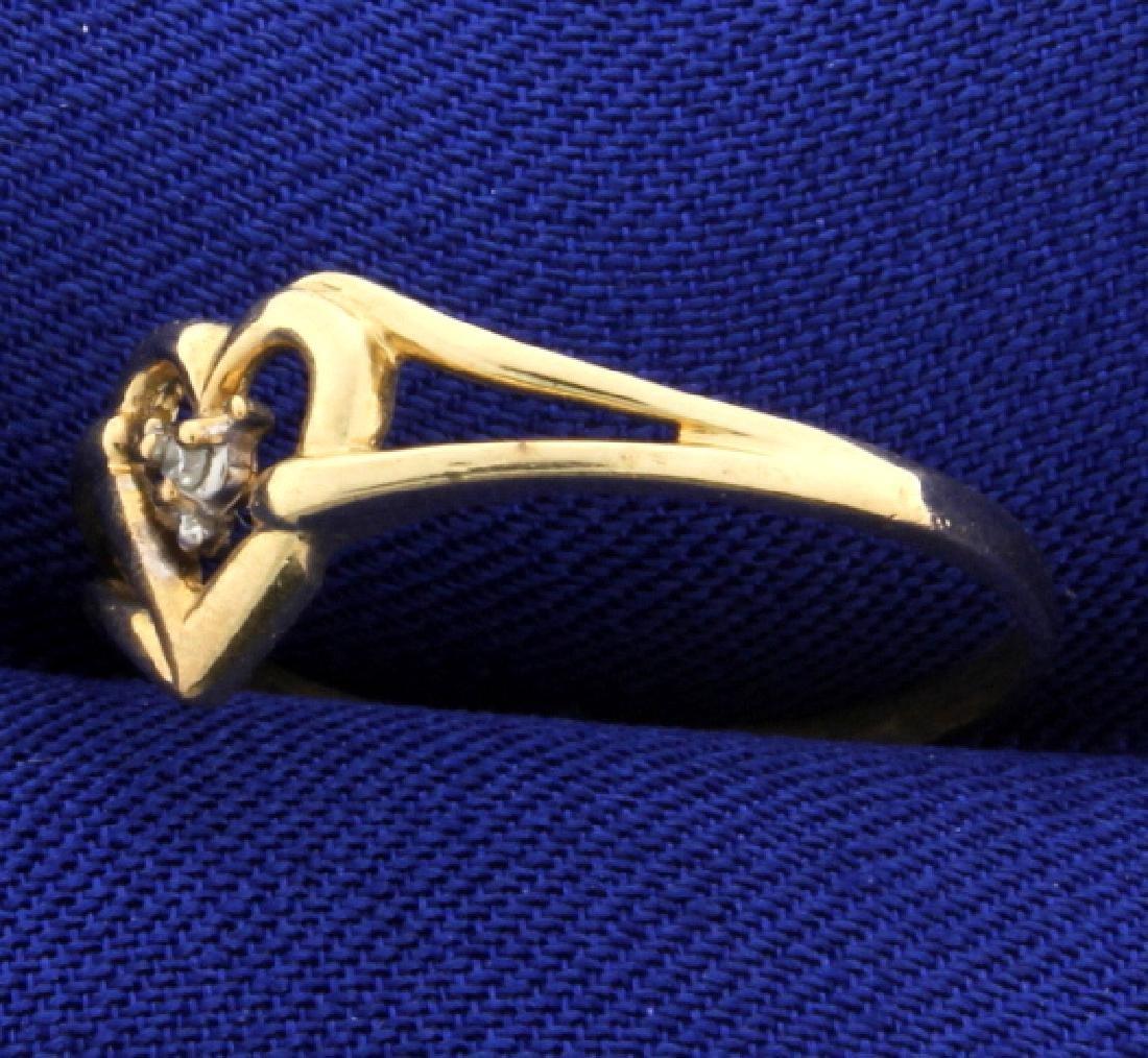 Diamond Heart Ring - 2