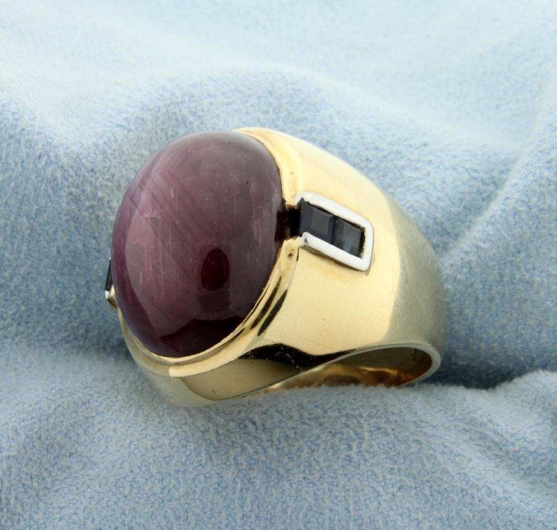 Purple Cats Eye Ring