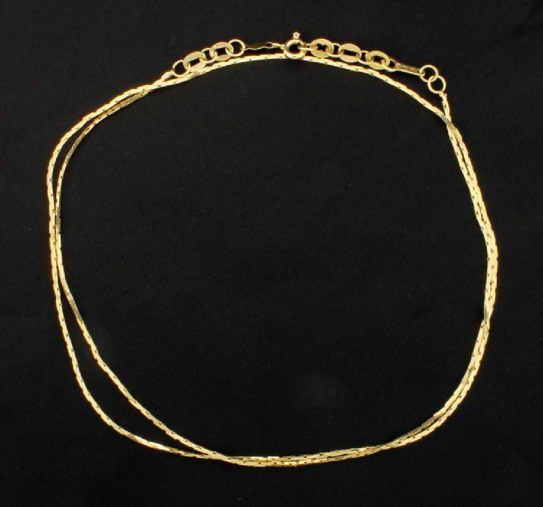 Italian Made 22 1/2 Inch Cobra Chain