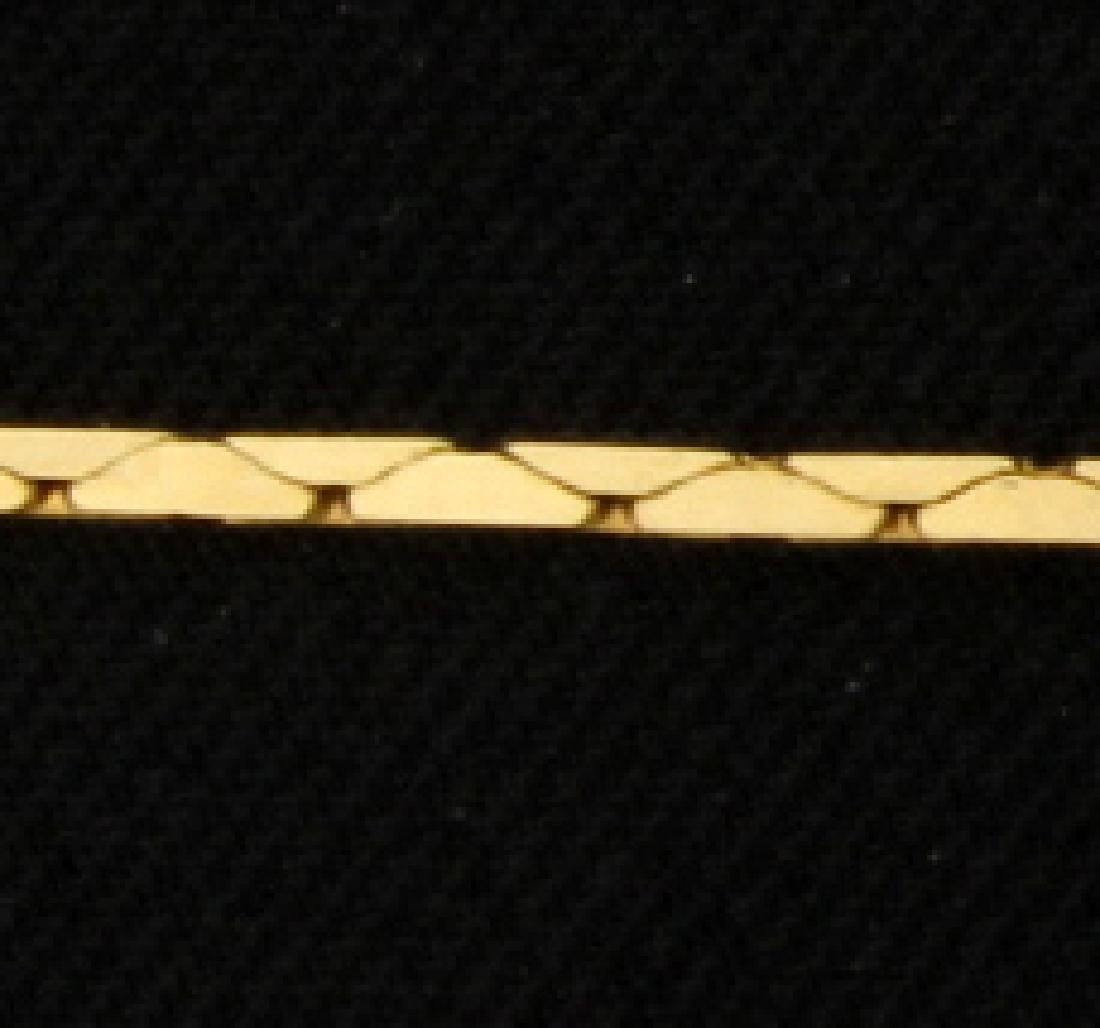 Italian Made 22 1/2 Inch Cobra Chain - 2