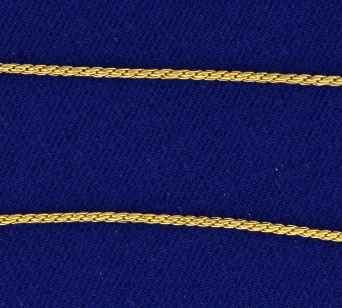 Italian Made Foxtail Neck Chain - 2