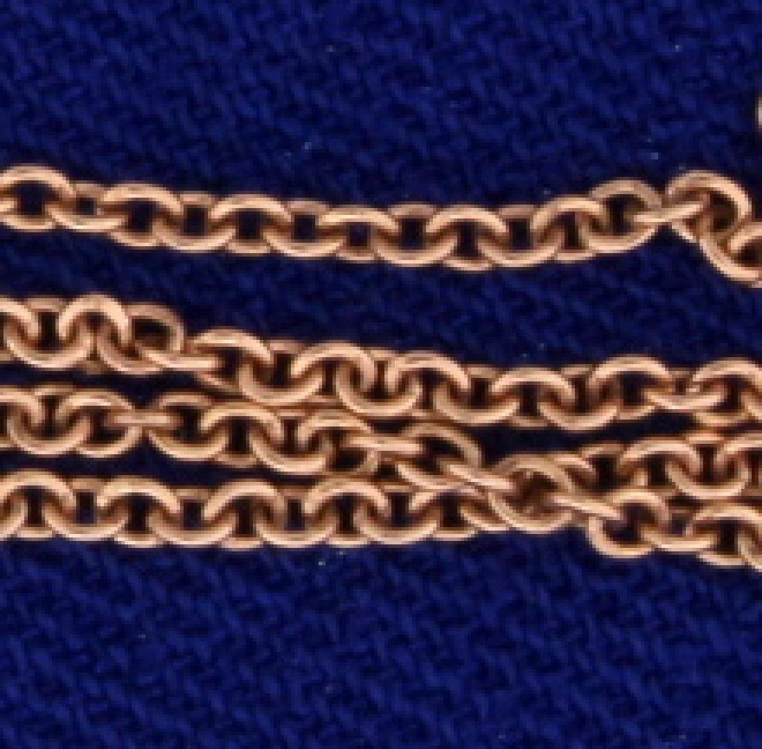18 Inch Rose Gold Link Chain - 2