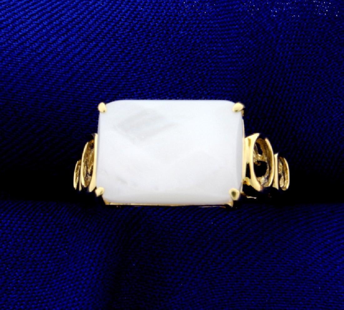 6ct White Chalcedony Ring