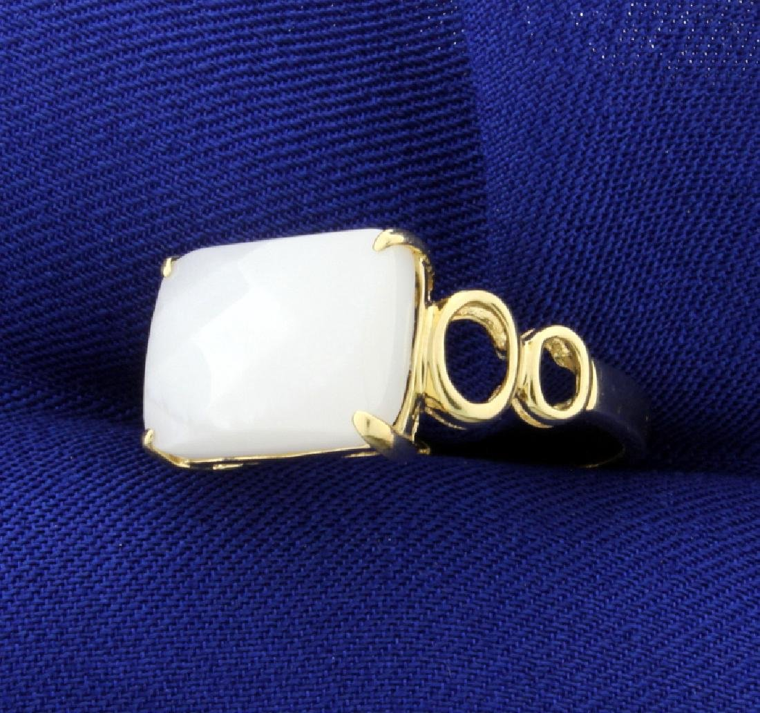 6ct White Chalcedony Ring - 2
