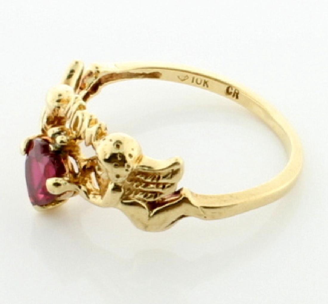 Lab Ruby & Diamond Mom Ring - 2