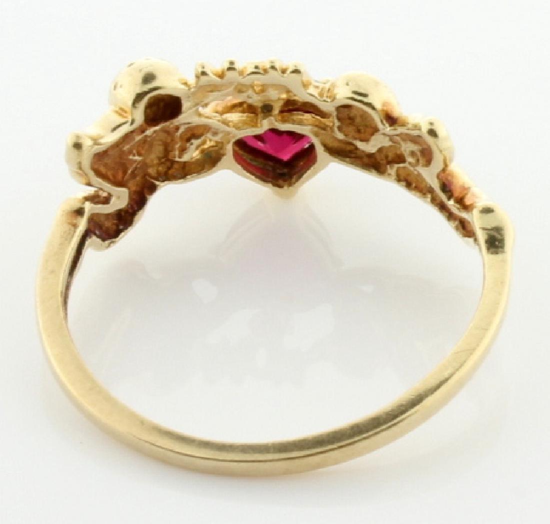Lab Ruby & Diamond Mom Ring - 3