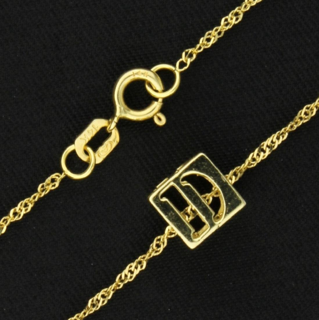 """D"" Necklace - 2"