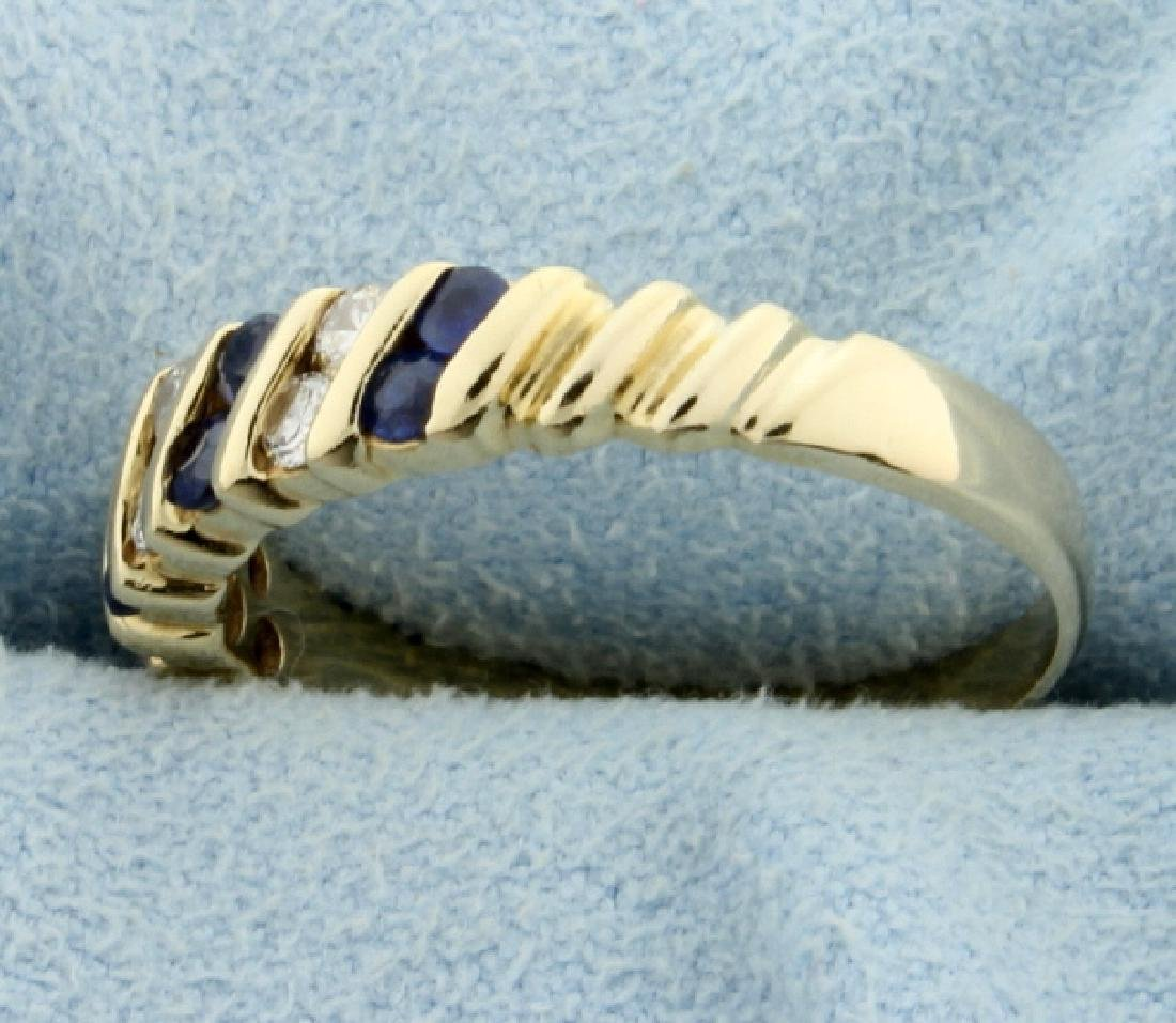 Sapphire and Diamond Ring - 2