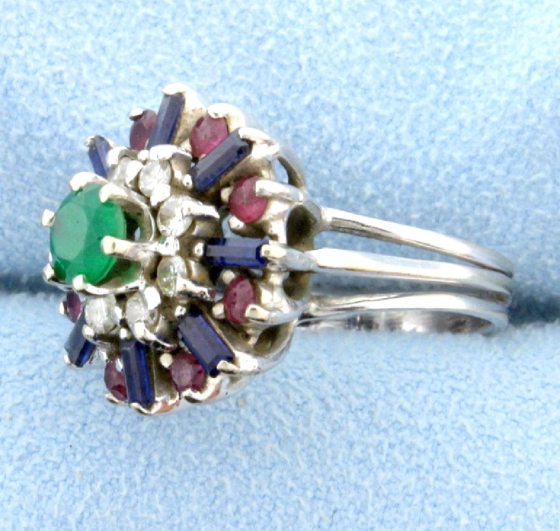 Diamond, Emerald, Sapphire, and Ruby Ring - 2