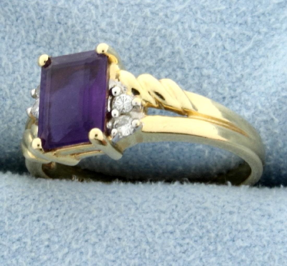 Amethyst and Diamond Ring - 2