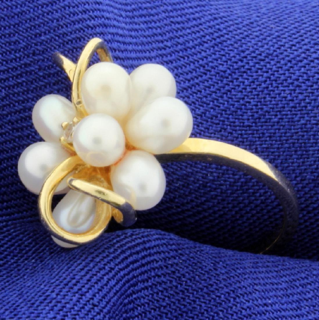 Pearl & Diamond Ring - 2