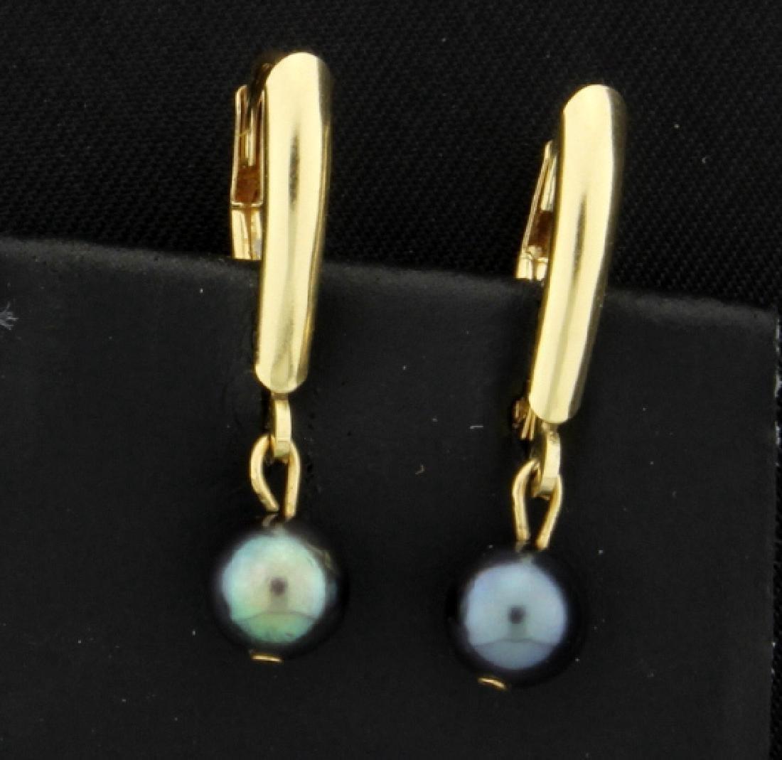 Tahitian Pearl Dangle Earrings