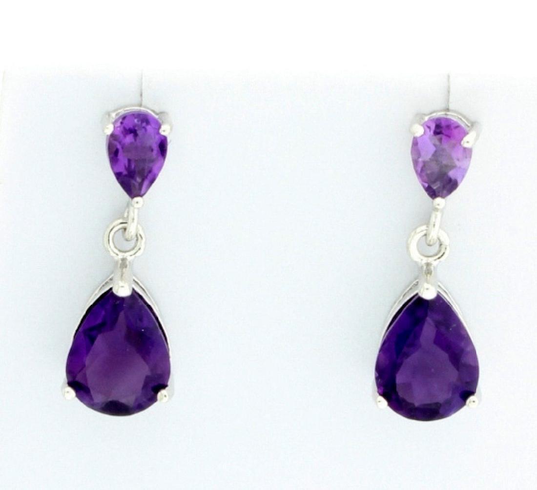 Perfect Pears Amethyst Dangle earrings