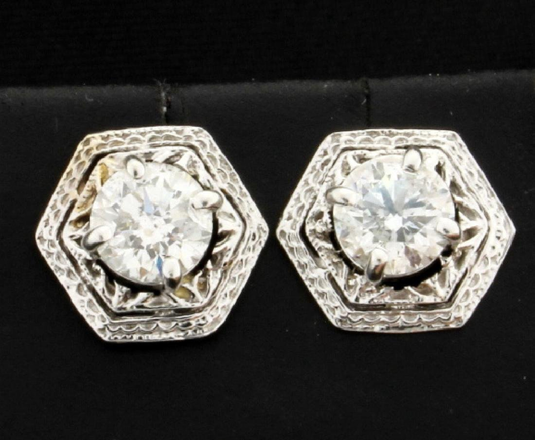 Unique 1.6ct TW Diamond Earrings