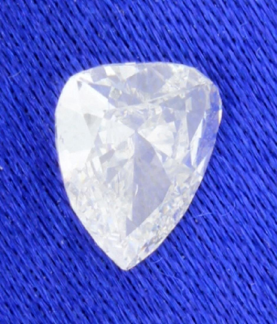 EGL Certified Pear Brilliant 0.73 carat Diamond