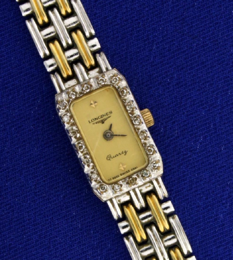 Vintage Longines Diamond Two Toned Woman's Watch