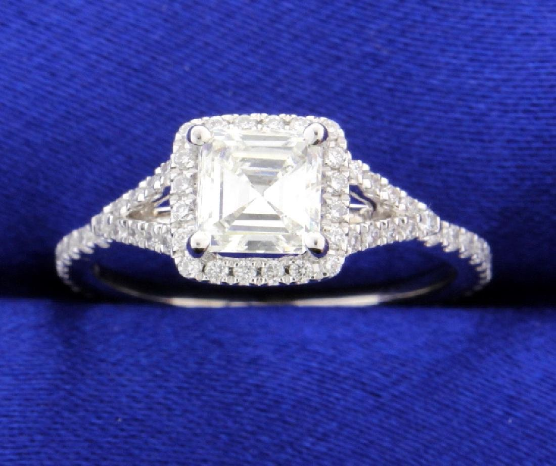"1.27 ct TW ""Sylvie"" halo style diamond ring"