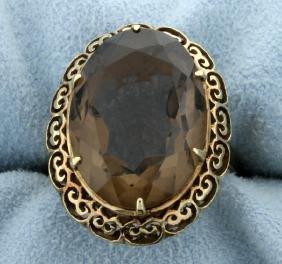 Antique 14ct Smokey Quartz Ring
