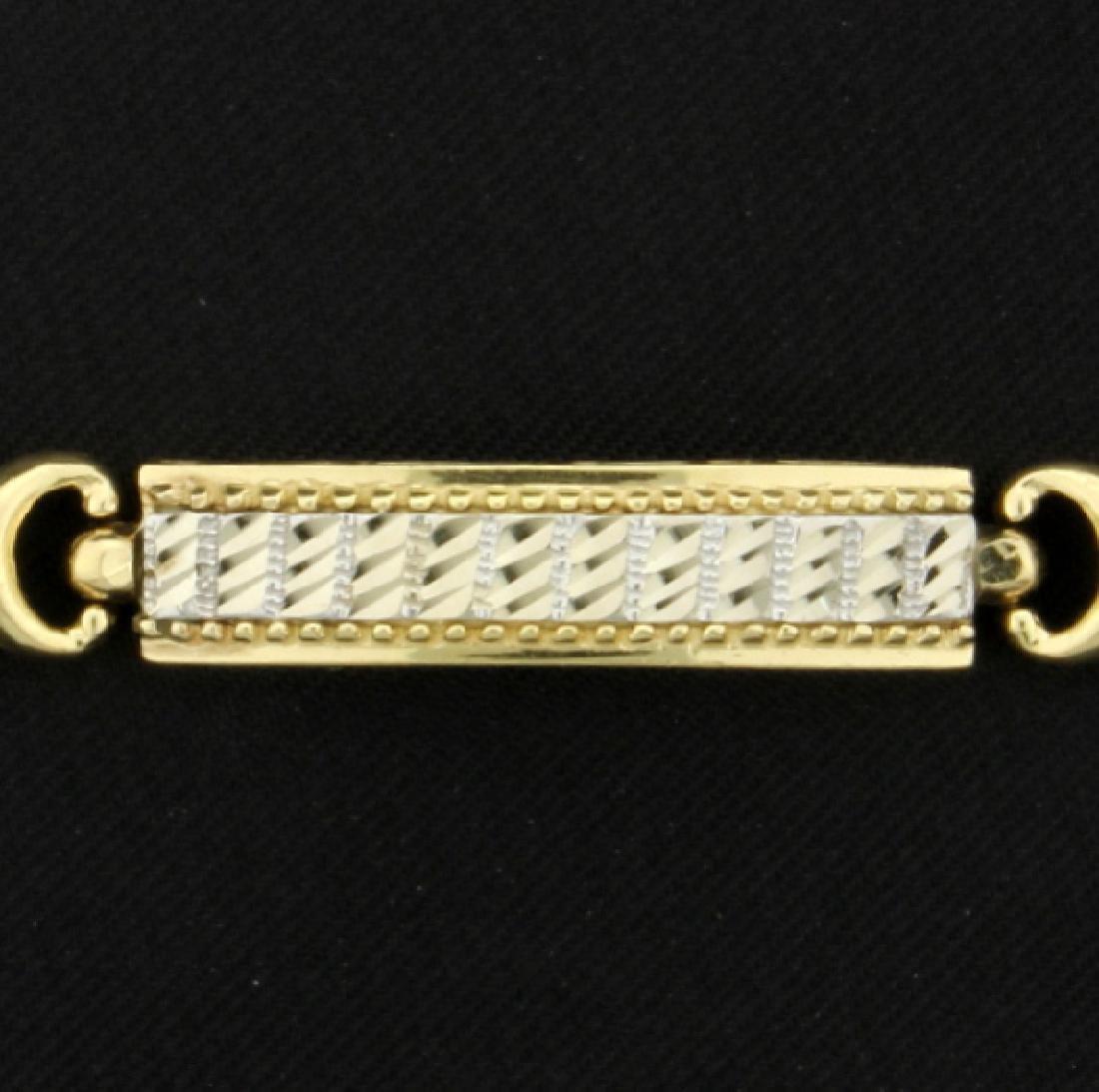 14K Yellow & White Gold Bracelet - 2