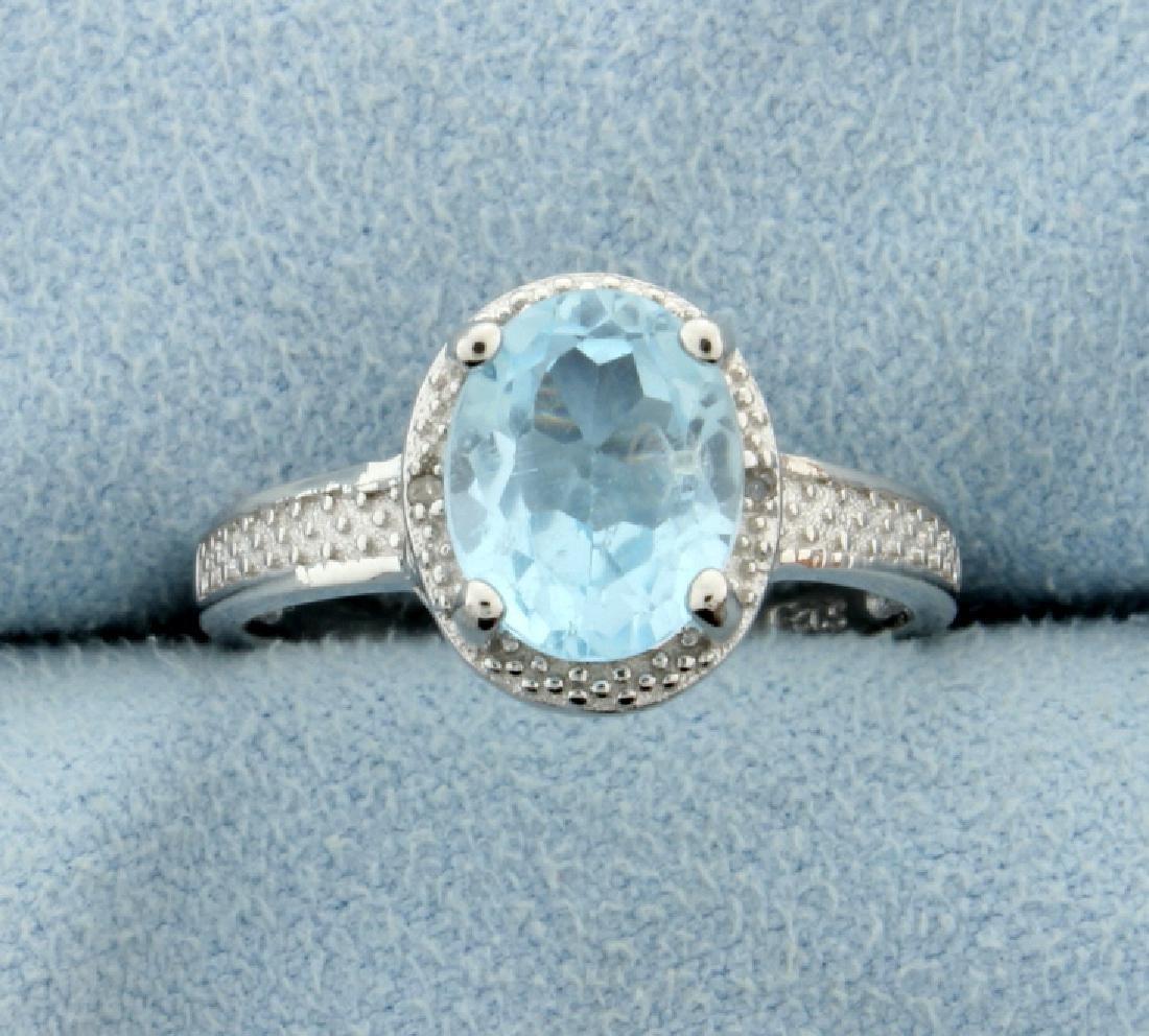 Vintage Style Blue Topaz Ring