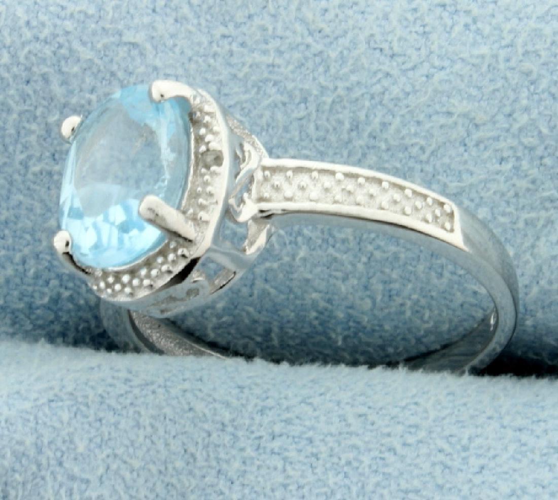 Vintage Style Blue Topaz Ring - 2