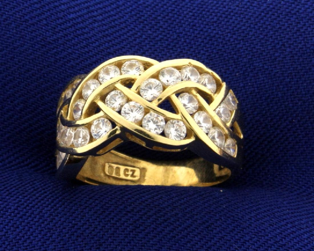 1 1/2ct TW CZ Ring in 14k Gold