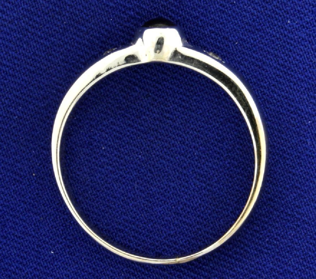 Garnet and Diamond Men's Ring - 3