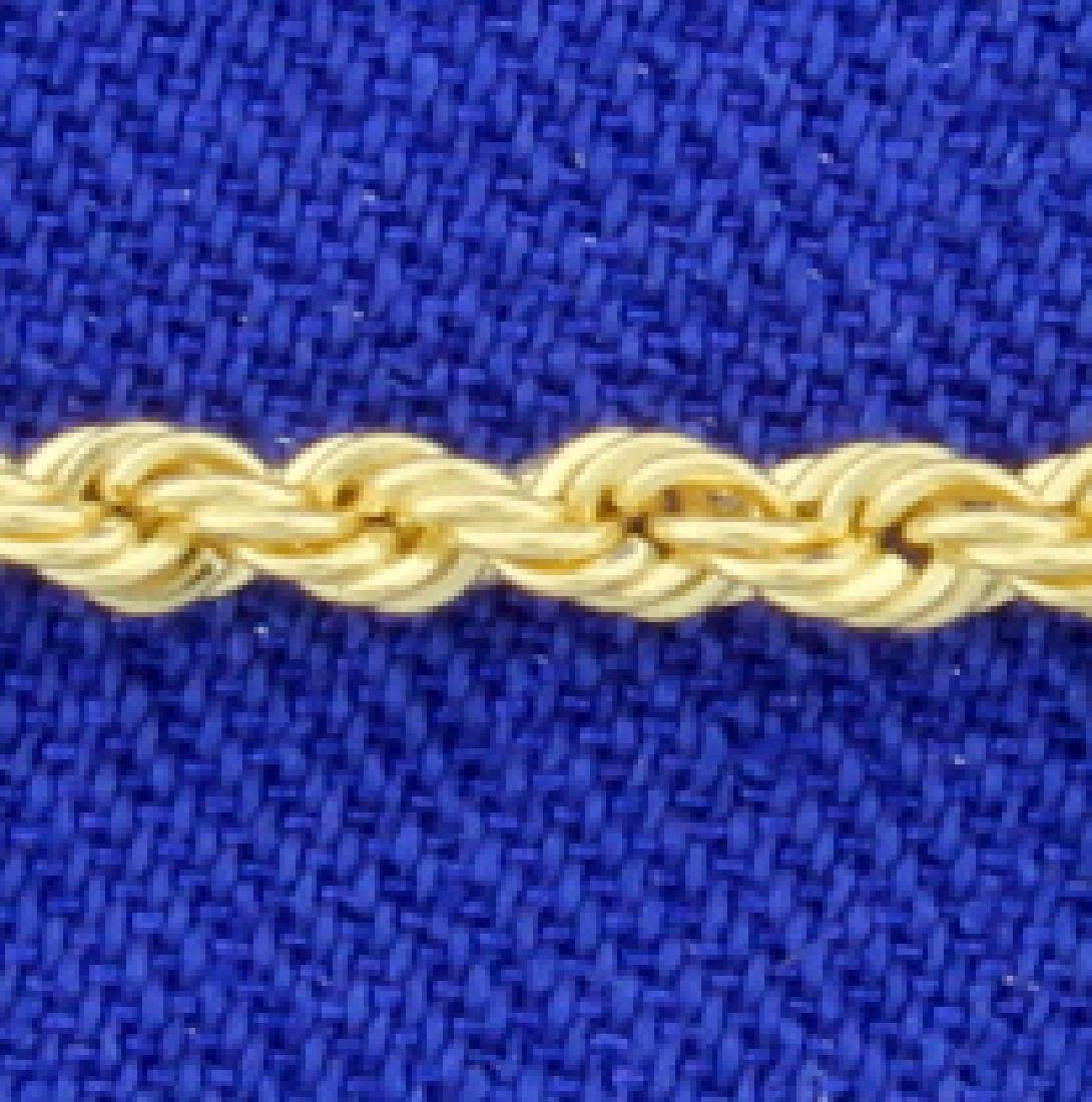 Gold Rope Bracelet - 2