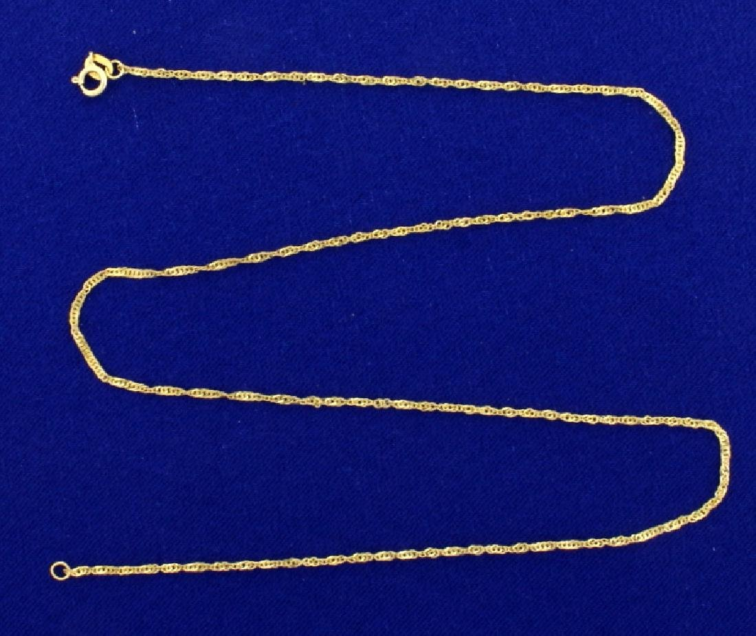 16 1/4 Inch Rope Style Neck Chain